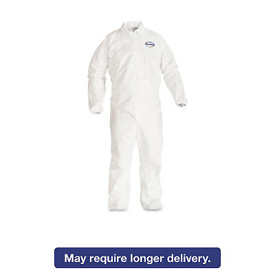 KleenGuard* A40 Elastic-Cuff Coveralls White 2X-Large 25/Case 44315