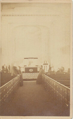 Cdv Photo Of Possible Funeral At St Philips Church