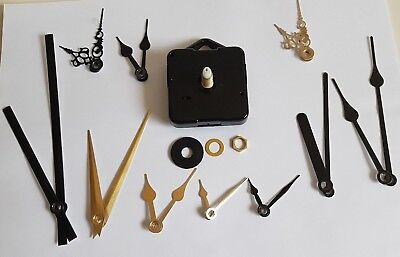 EZ DIY Ticking Quartz Clock Wall Clock Replacement mechanisms with parts
