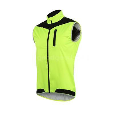 ARSUXEO Men's Sleeveless Cycling Jersey Full Zipper Breathable Running Tops T5Y9