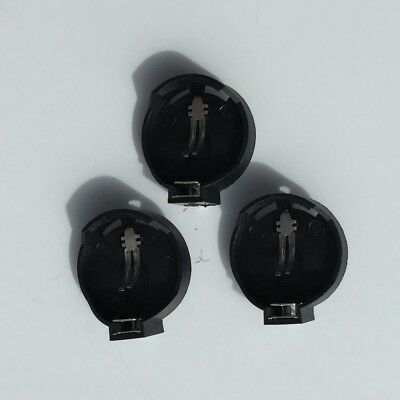 3 x PCB Coin Cell Holder Single CR2032 CR2025 CR2016 Battery - UK Fast Delivery