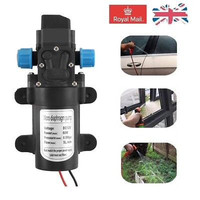High Pressure 12V 60W 5L/min Micro Diaphragm Water Pump Car Washer Boat Cleaning