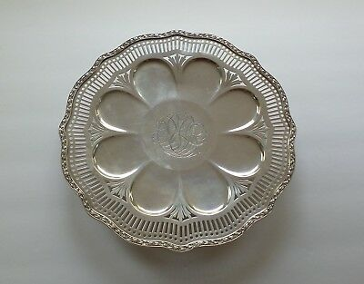 Unusual WALLACE Sterling Silver Pierced Dessert Tray / Platter, C 1384