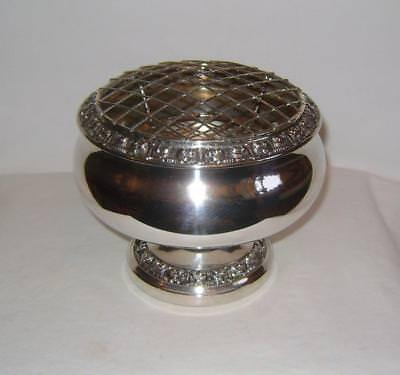 Vintage Silver Plated Rose Bowl : IANTHE of England - 1960s