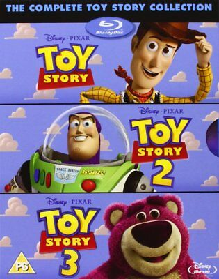 The Complete Toy Story Collection 1 2 & 3-Box Set New Blu-ray 8717418288464