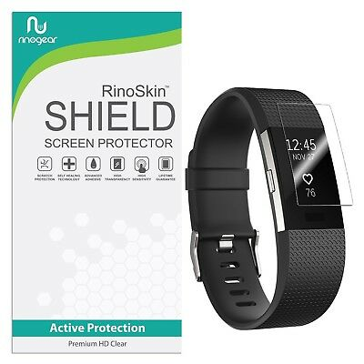 [8-PACK] RinoGear for Fitbit Charge 2 Screen Protector [Active Protection] Fl...
