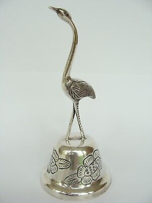 vintage Maciel Mexican Sterling Silver Flamingo Table Dinner Bell 143gr