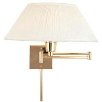 Hampton Bay Wall Mount Polished Brass Swing Arm Touch Light 420-316 Sconce