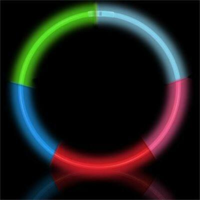"22"" 5 Color Premium Glow Necklaces (50/tube or 600/case)"