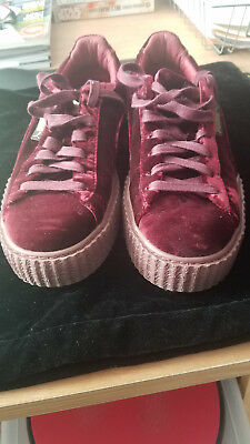 official photos 962cf 8ea5a PUMA X RIHANNA Velvet CREEPER FENTY Burgundy Royal Purple Maroon Red