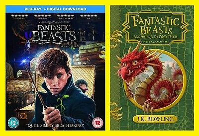Fantastic Beasts and Where To Find Them new Blu-ray and Hardback Book Pack