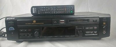 Sony MXD-D40 Compact Disc Minidisc Deck CD Player Recorder Sync Remote Manual