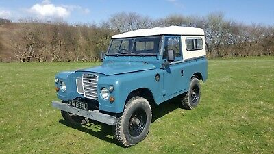 """Land rover series 3 2.25 petrol galvanised chassis tax exempt 88"""" swb 1973"""