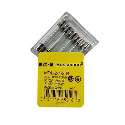 Slow Blow Fuse - 2.5 Amp - MDL, 250V - Set of 5