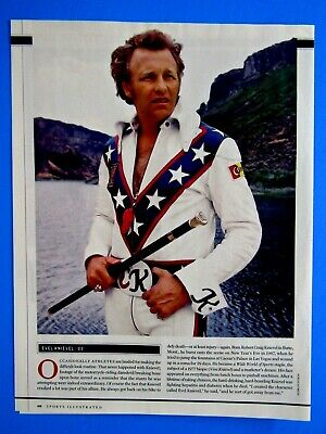 """2007 Evel Knievel Picture-1 Page Picture & Article 8.5 x 10.5""""-Original"""