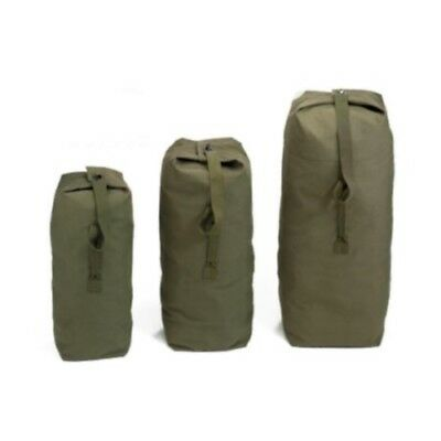 MILITARY STYLE H.D. CANVAS ARMY DUFFLE BAG - 3 SIZES - BRAND NEW - heavy duty