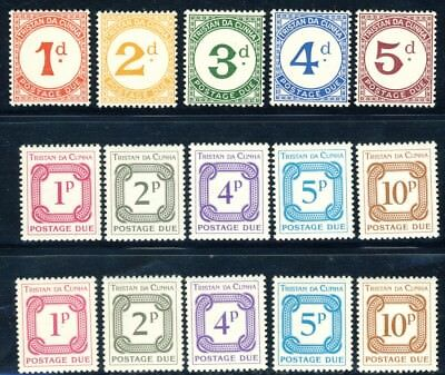 Tristan da Cunha 3 complete MNH Postage Due sets, excellent value for these!!!
