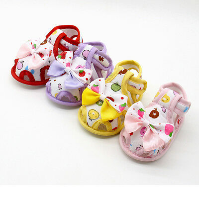 Newborn Baby Kids Girls Bow Cute Soft Sole Crib Shoes Prewalker Lovely Presents