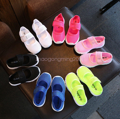 Kids Boys Girls Summer Beach Flat Sandals Trainers Breathable Mesh Shoes Size