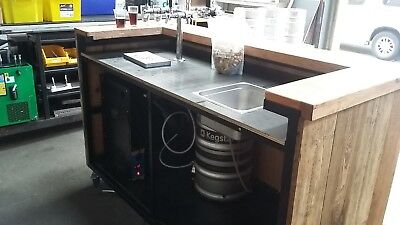 Mobile 2 tap Bar for man cave, function event, holds two kegs