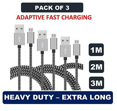 Premium Long Micro USB FAST Charger Cable Lead for Samsung S5 S6 S7 Edge +
