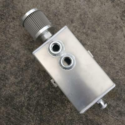 2L Aluminum Oil Reservoir Catch Can Tank With Breather Filter Drain AN10 Baffled
