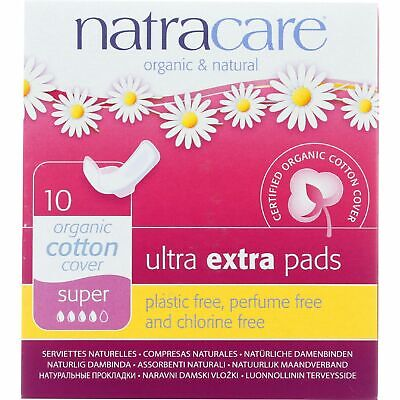 Natracare Pads Ultra Extra Super 10 Ct 4 Pack