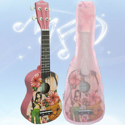 New Soprano Ukulele Perfect Beginner Starter Uke Ukelele Guitar With Bag
