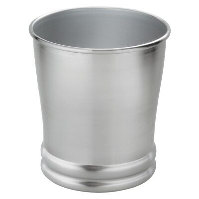 Bathroom Trash Can Small Office Home Kitchen Garbage Bin Silver