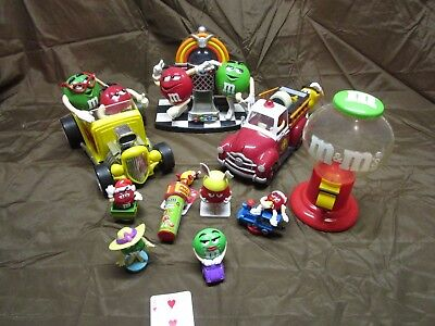 M&M Lot of 10 Dispensers and Characters and Holders, etc. #3