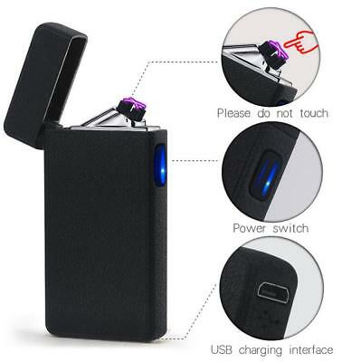 Windproof Lighter Rechargeable Plasma USB Electric Flameless Dual Arc Cigarette