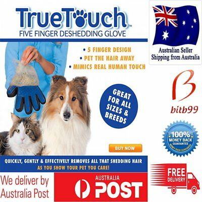 True Touch Cleaning Brush Magic Glove Pet Dog Cat Massage Hair Removal GroominG&