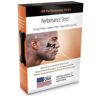 NEW Stuffy Nose Solutions Eye Black Performance Nasal Strips 30 ct