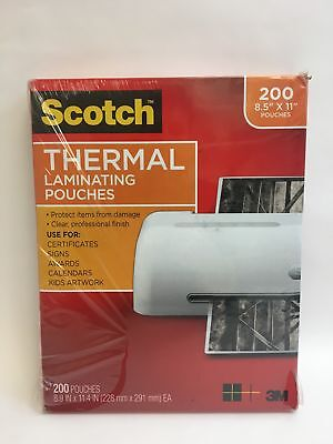 """New Scotch Thermal Laminating Pouches 8.5 x 11"""" - Box of 200"""