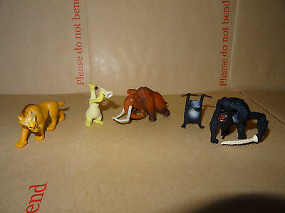 5 Pieces ICE AGE 4  Collectable figures original