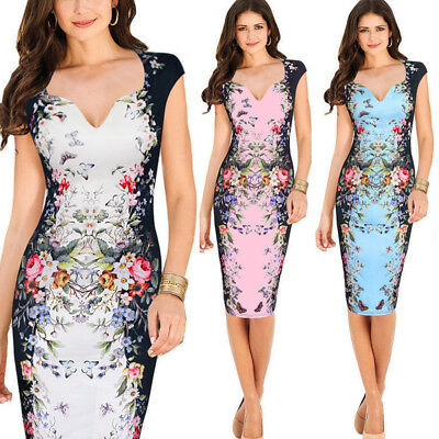 Sexy Women Beaded Floral Sheer Bodycon Pencil Evening Clubwear Party Mini Dress
