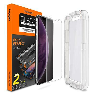 iPhone X XS Max-Spigen GlasTR EZ Fit Slim TEMPERED GLASS Screen Protector 2 PACK