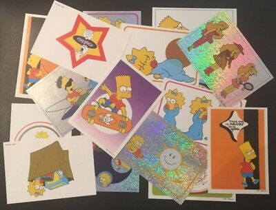 16 The Simpsons Stickers 1999 From Italy Panini Modena