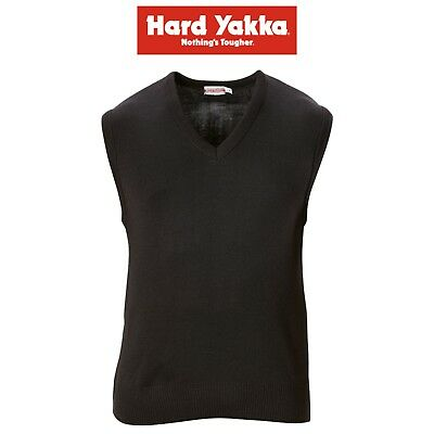 Mens Hard Yakka Y16051 Wool Acrylic Vest V-Neck Office Corporate Work Warm Style
