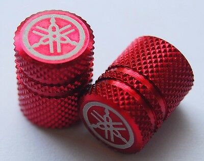 Yamaha Tire Valve Dust Cap Red Anodized Genuine Ri R6 Fzr Yzf R15 R3 Mt09 Etc