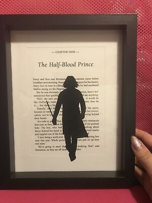 HARRY POTTER BOX Frame - The Half Blood Prince with Snape silhouette ...