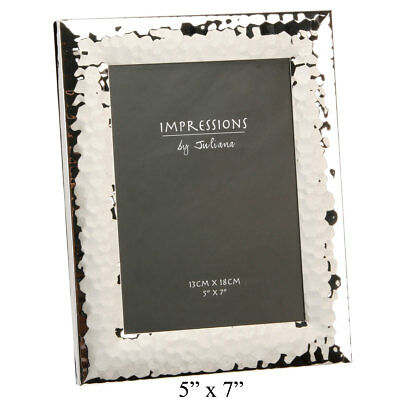 IMPRESSIONS CHUNKY SHINY Silver Hammered Photo Picture Frame ...