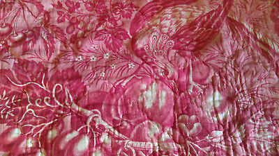 Beautiful 19thC Antique French Toile De Jouy Fabric Piece