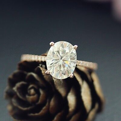 Engagement Ring 14K Gold Filled Oval Cubic Zirconia Anniversary Wedding Rings