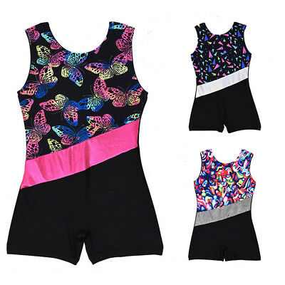 US Baby Girls Gymnastics Leotard Bodysuit Romper Party Dance Custume Dancewear