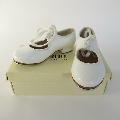 Bloch Techno Kids White Laced Tap Shoes w/ Low Heel - UK Size 7 1/2 - Euro 24.5