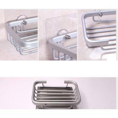 Adhesive Metal Soap Storage Basket Holder Shower Caddy Tidy Soap Dish Tray