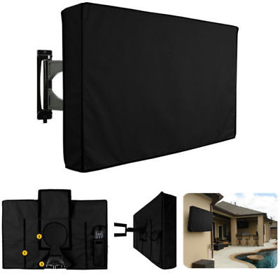 "22""-58"" Inch Waterproof Black TV Cover Outdoor Patio Flat Television Protector C"