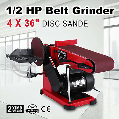 375W Bench Belt and Disc Sander Grinder Tabletop Wood Sanding Woodworking PRO