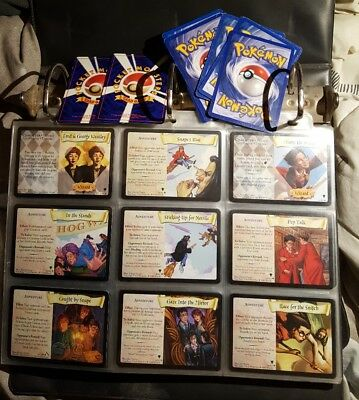 Lot Of 124 Harry Potter Trading Cards Game W/ 6 Holos Bonus Pokemon 1999 & 2000